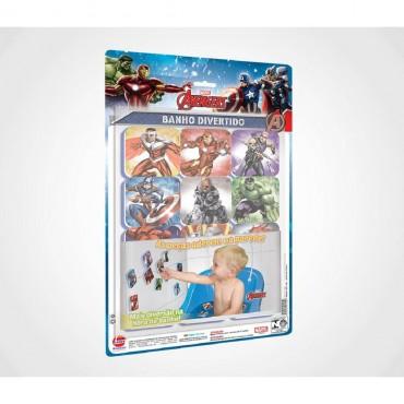 Brinquedo Banho Divertido Avengers Marvel Kit 24 Peças Líder.