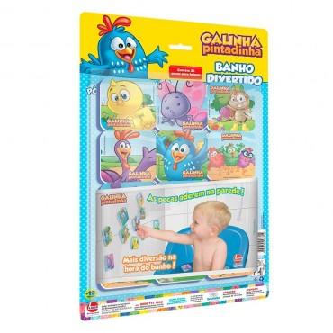 Brinquedo Banho Divertido Galinha Pintadinha Kit 24 Peças Líder.