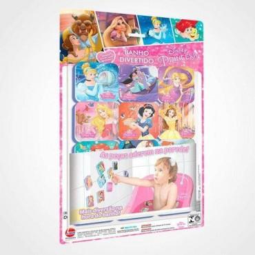 Brinquedo Banho Divertido Princesas Disney Kit 24 Peças Líder